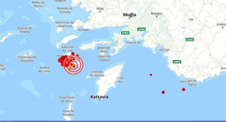 Deprem Bodrum'da da Hissedildi