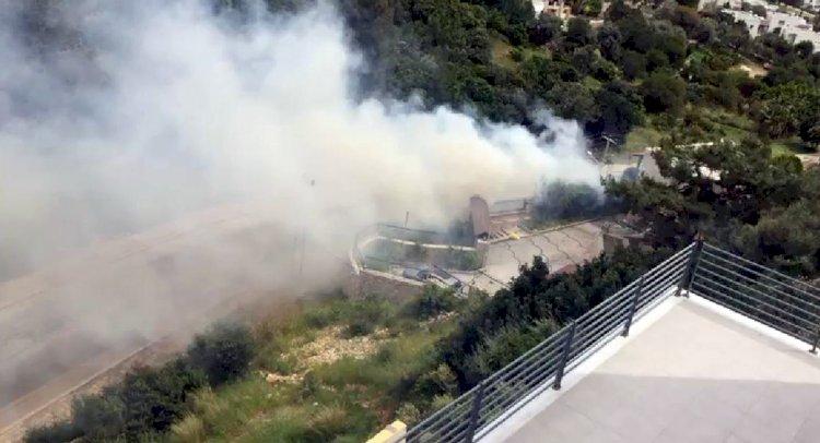 Yol Kenarında Yangın Çıktı