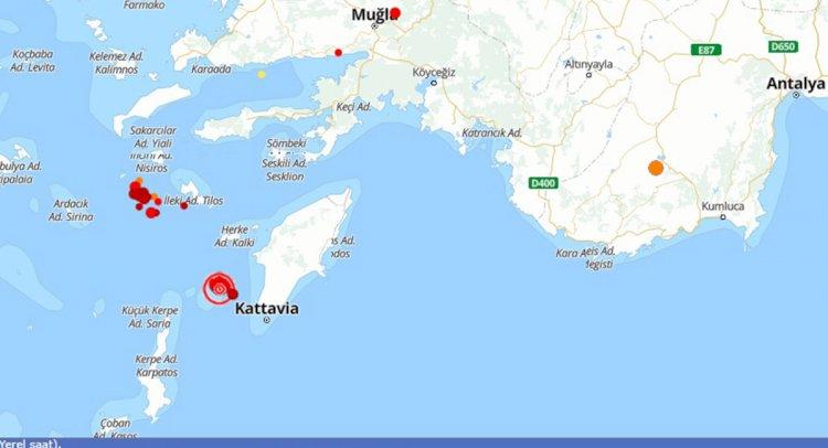 Ege Denizi'nde 4,1'lik Deprem