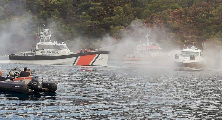 Motor Yatta Çıkan Yangın Hasara Yol Açtı