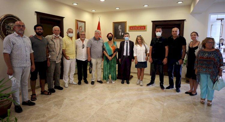 Gazetecilerden Kaymakam Bayar'a Ziyaret