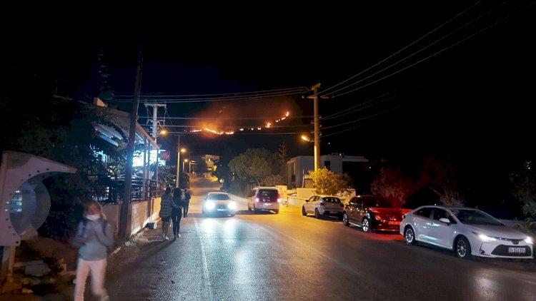Akyarlar'da Çıkan Yangın Söndürüldü