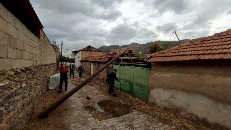 Milas'ta Fırtına Etkili Oldu